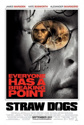 Pekinpah As Pop, Peckinpah As Classic. Think of Sam Peckinpah's 1971 Straw Dogs as a pop myth, not some vulgar expiation of unruly, anti-feminist temper—or Hollywood exploitation of same. Its story, by now a notorious legend, digs into a primal event: a modern, civilized man forced to use brute cunning to protect his home and property. Peckinpah's dismantling of social custom comes from an era unlike today when popular filmmakers, through personal intelligence and experience, believed art had a serious purpose. The new remake of Straw Dogs trashes that precept and the disaster should resound throughout the art world. Anyone who cares about art in any form should rise up against this foul remake.