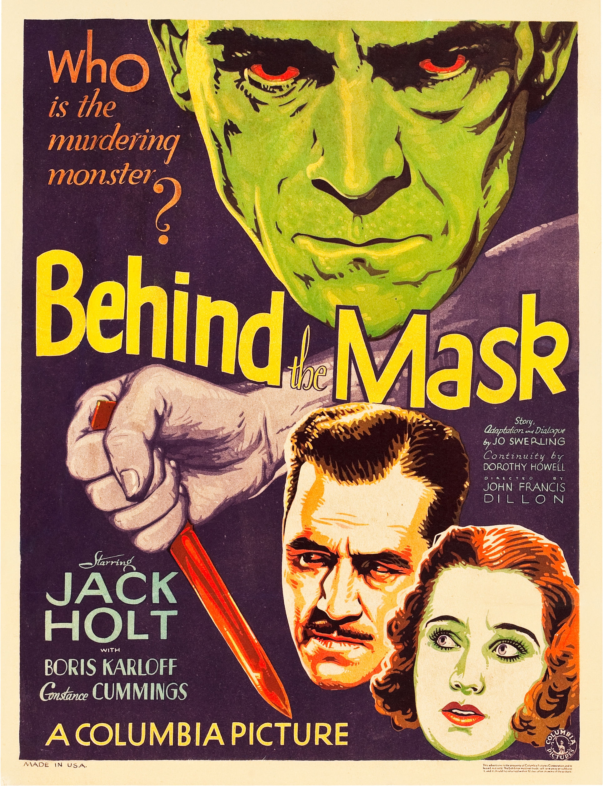 "Boris Karloff had appeared in something like 60 movies over 11 years before his first important part in Howard Hawks' ""The Criminal Code,"" the first of his 13 film appearances […]"